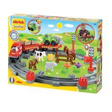Giocattolo Abrick Treno Country, con un veicolo e 4 animali Ecoiffier