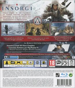 Videogioco Assassin's Creed III Bonus Edition Day One PlayStation3 6