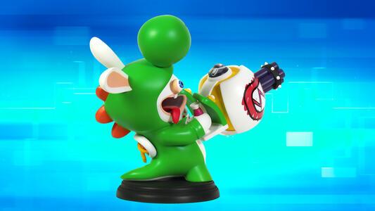 Mario Rabbid K.Battle Statua Yoshi 15cm - 5