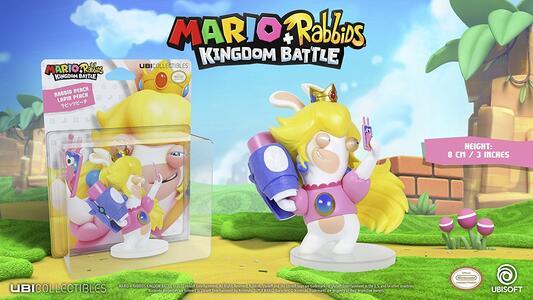Mario Rabbid K.Battle Statua Peach 8cm - 7