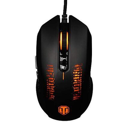 Konix World Of Tanks M-30 Mouse da gamer LED retroilluminato per PC, 3200 DPI, mouse da gioco FPS MMO, ergonomico, per computer, 8 pulsanti, pulsante di tiro rapido, mouse ottico USB