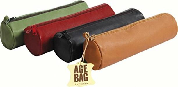 Astuccio rotondo in pelle Age Bag