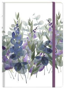 Cartoleria Taccuino blocco fisso rigido Quintessence, 96 pagine 10, 5 x 14, 8 cm 90 g con tasca a soffietto, motivo casuale Clairefontaine