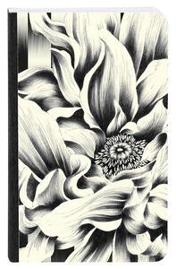 Cartoleria Kenzo, Taccuino copertina morbida 9 x 14 cm, 72 F a righe, motivo casuale Clairefontaine