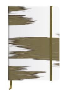 Cartoleria Kenzo, Taccuino copertina rigida A5 - 14, 8 x 21 cm, 80 F carta avorio 90g, con tasca, segnalibro, elastico Clairefontaine