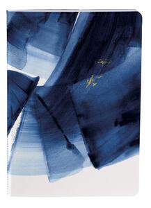 Cartoleria Indigo, Set 2 taccuini cuciti A5 - 14, 8 x 21 cm, 32 F a righe, con nastro Clairefontaine