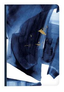 Cartoleria Indigo, Taccuino copertina morbida A5 - 14, 8 x 21 cm, dorso telato, 60 F, a righe, motivo casuale Clairefontaine