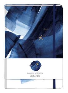 Cartoleria Indigo, Taccuino copertina rigida A5 - 14, 8 x 21 cm, 80 F a righe, chiusura con elastico, col motivo casuale Clairefontaine