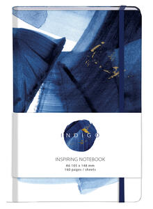 Cartoleria Indigo, Taccuino copertina rigida A6 - 10, 5 x 14, 8 cm, 80 F a righe, chiusura con elastico, col motivo casuale Clairefontaine