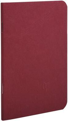 Quaderno Age Bag spillato pocket a righe. Rosso ciliegia