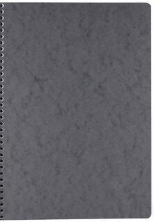 Quaderno Age Bag con spirale pocket a quadretti. Grigio