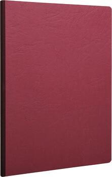 Quaderno Age Bag brossurato extra large a righe. Rosso ciliegia