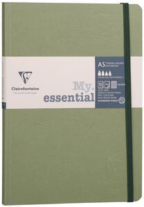Taccuino Age Bag My Essential medium a righe. Verde muschio