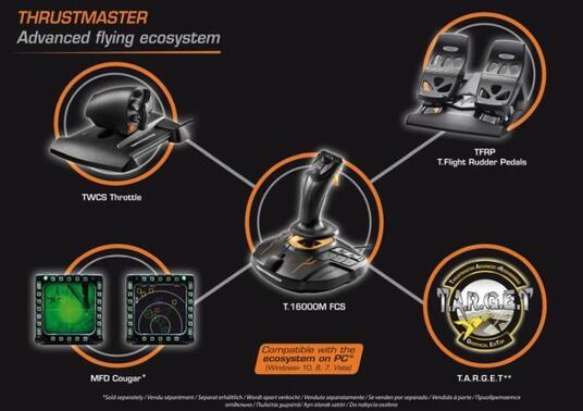 Thrustmaster T.16000M FCS Flight Pack Joystick Mac, PC Nero - 3