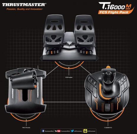 Thrustmaster T.16000M FCS Flight Pack Joystick Mac, PC Nero - 5