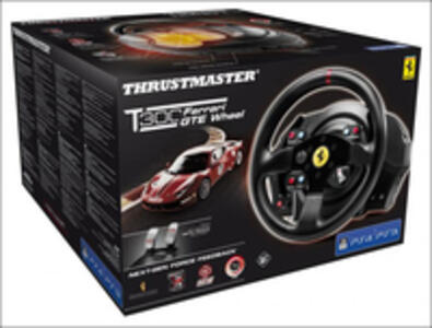 Thrustmaster T300 Ferrari GTE Sterzo + Pedali PC, Playstation 3, PlayStation 4 Nero - 9