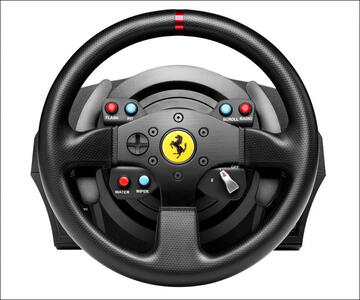 Thrustmaster T300 Ferrari GTE Sterzo + Pedali PC, Playstation 3, PlayStation 4 Nero - 11