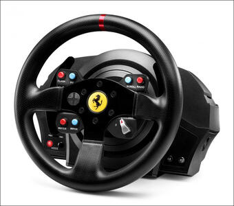 Thrustmaster T300 Ferrari GTE Sterzo + Pedali PC, Playstation 3, PlayStation 4 Nero - 12