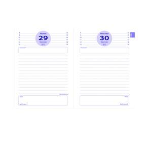 Diario giornaliero 2017-2018, 13 mesi, agosto-agosto Quo Vadis Pop. Viola - 2