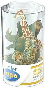 Mini tubo animali selvaggi set 2