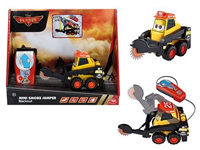 Giocattolo Majorette Disney Planes Fire & Rescue. Mini Blackout Filoguidato Smoby