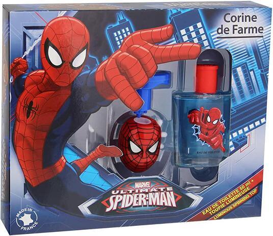 Confezione Regalo Cura del Corpo Marvel Ultimate Spiderman. Eau de toilette, Dosatore luminoso Spiderman