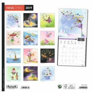 Calendario 2019 Nina Chen Aquarupella - 30x30 - 2