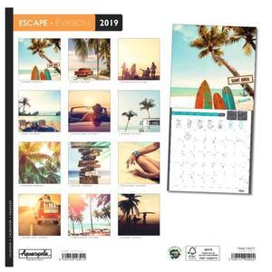 Calendario 2019 Fuga Aquarupella. Evasion - 30x30 - 2