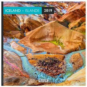 Calendario 2019 Islanda Aquarupella. Islande - 30x30