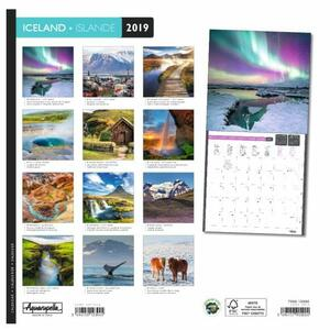 Calendario 2019 Islanda Aquarupella. Islande - 30x30 - 2