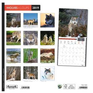 Calendario 2019 Lupi Aquarupella. Loups - 30x30 - 2
