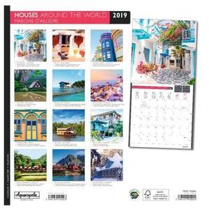 Calendario 2019 Case dal mondo Aquarupella. Maison d'ailleurs - 30x30 - 2