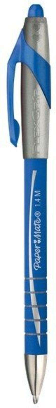 Penna a sfera a scatto Paper Mate Flexgrip Elite blu punta 1,4 mm