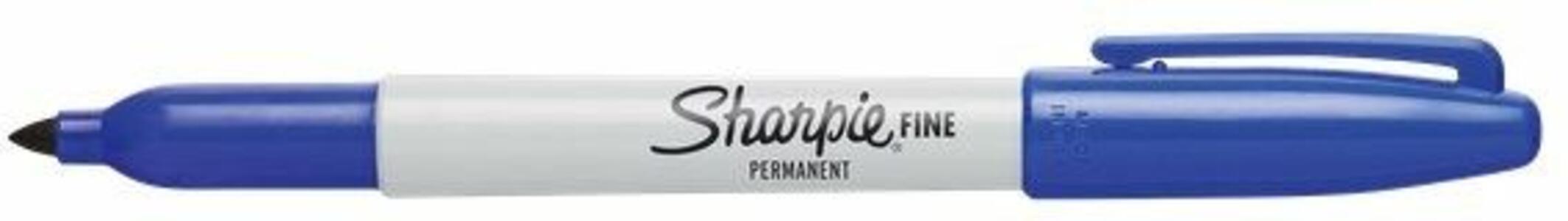 Marcatore permanente Sharpie fine blu punta tonda 1 mm