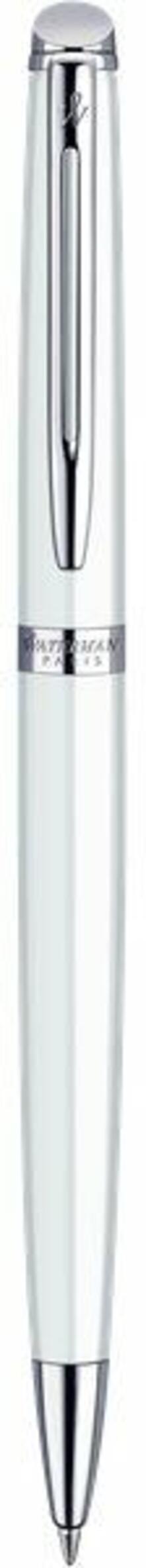 Penna a sfera Waterman Hemisphere Essential White blu a rotazione