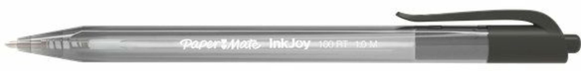 Penna Paper Mate InkJoy 100 a scatto nero. Confezione da 20 - 2