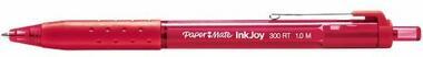 Penna Paper Mate InkJoy 300 a scatto rosso con grip in gomma punta media. Confezione 12 pezzi - 2