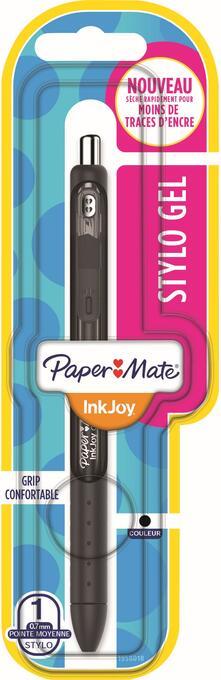 Penna a inchiosto a scatto Papermate Inkjoy Gel punta da 0,7 mm Nero