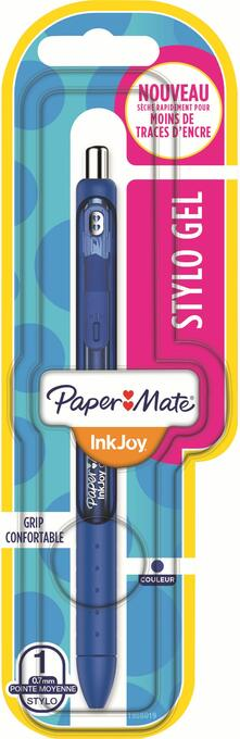 Penna a inchiosto a scatto Papermate Inkjoy Gel punta da 0,7 mm Blu