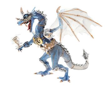 Giocattolo Dragons. Drago in armatura blu Plastoy