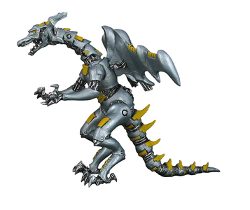 Giocattolo Dragons. Drago robot metallo Plastoy