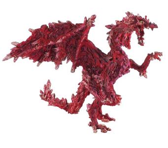 Giocattolo Dragons. Drago Rubino Plastoy 0