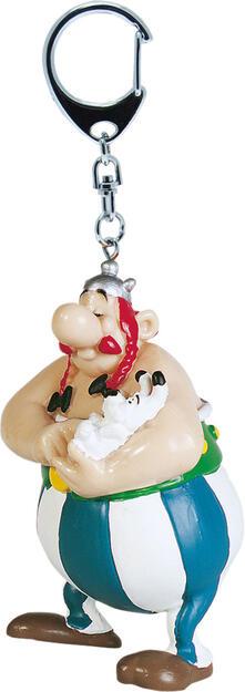 Portachiavi Asterix. Obelix con Idefix