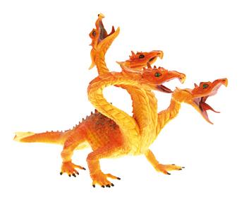 Giocattolo Dragons. Drago hydra rosso fuoco Plastoy 0