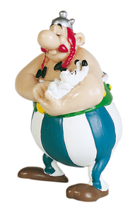 Giocattolo Asterix. Obelix con Idefix Plastoy 0