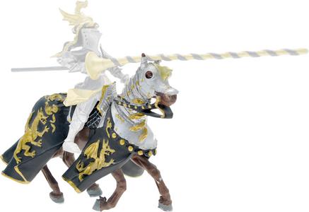 Giocattolo Cavalieri: Cavallo con Manto Draghi Plastoy
