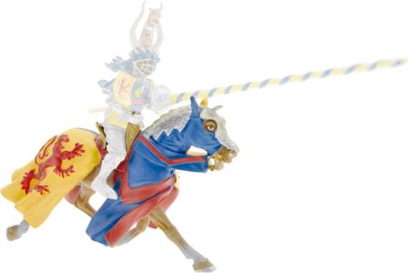 Giocattolo Cavalieri: Cavallo Giallo e Blu, Leone Rosso Plastoy