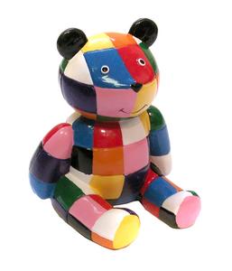 Giocattolo Elmer. Orso multicolore Plastoy 0