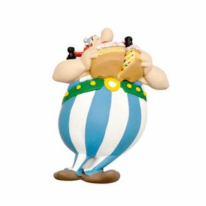 Giocattolo Asterix. Calamita Obelix con la torta Plastoy 0