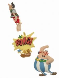 Giocattolo Asterix. Set di 3 calamite Obelix Plastoy